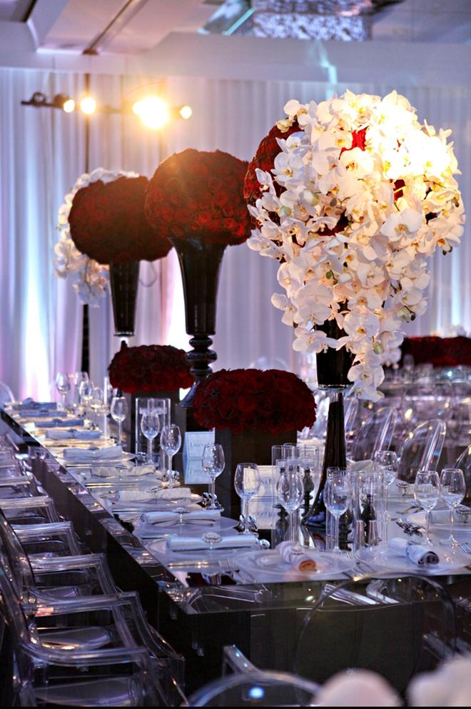 Wedding Reception Decor Long Table Tablescape 36a